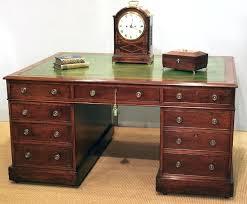 bureau desk uk antique mahogany partners desk bureau writing desk