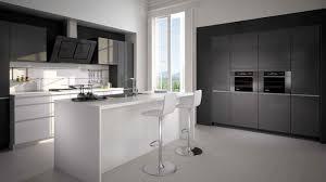 cuisine gris et noir cuisine noir et grise gris univers blanc lzzy co