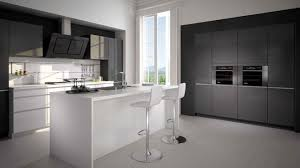 cuisine noir et gris cuisine noir et grise gris univers blanc lzzy co