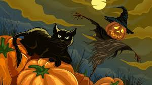 moving halloween wallpapers by862 hd widescreen wallpaper halloween cats halloween cats