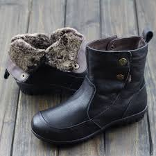 womens flat ankle boots australia womens shoes australia fur boots black brown genuine leather slip