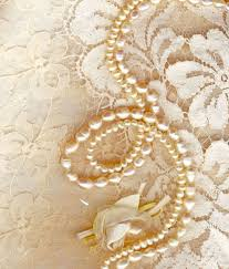 wedding background with silky decoration accessories lace