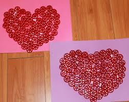 mom to 2 posh lil divas valentine craft colored pasta wagon