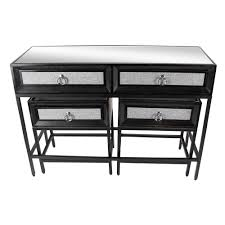 wood and metal console table with drawers classic black wood and metal console table and end tables set set