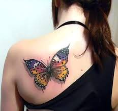 butterfly on back idea