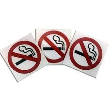 porta per auto 3 pack no safety warning signs sticker for car window