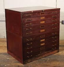 Hardware Storage Cabinet Vintage Art Metal Flat File Storage Cabinet With Brass Hardware At