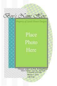 sarah dawn designs baptism invitation template grey n teal