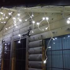 led icicle lights cool white 11m kaemingk indoor outdoor 259 cool white led twinkle icicle