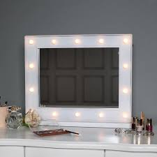 light up floor mirror large white led light up vanity mirror melody maison