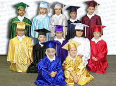 kindergarten cap and gown start prekindergarten preschool kindergarten