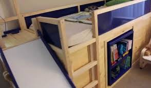 Bunk Bed Shelf Ikea Shelf Breathtaking Loft Bed With Desk Metal Size