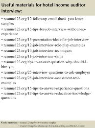Auditor Resume Sample Top 8 Hotel Income Auditor Resume Samples