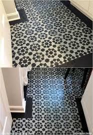 paint vinyl u0026 linoleum with floor stencils 8 diy decor ideas