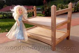 Doll Bunk Bed Plans Fashion Doll Furniture Plans Free Size With Building