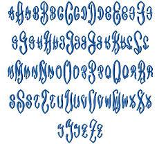 Letter Monogram Scroll 3 Letter Monogram Machine Embroidery Font