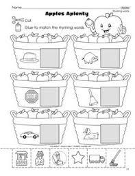 free november rhyming worksheets kindergarten pinterest