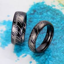 the one ring wedding band black lotr one ring tungsten wedding band domed lord of the rings