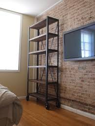 modern industrial bookcase doherty house casual and trendy