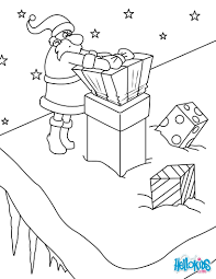 santa delivers christmas gifts coloring pages hellokids com