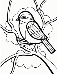 spring birds coloring pages kids crane bird