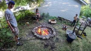 the fire pit fixing the fire pit and making burgers youtube