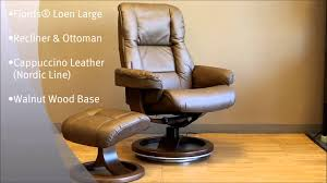 La Z Boy Nordic Recliner by Fjords Loen Recliner Chair And Ottoman Nordic Cappuccino Leather