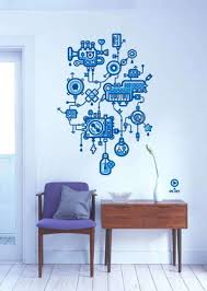 creative wall decorations ideas creative wall decor with blue