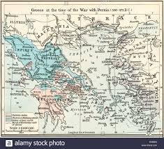 Map Of Greece by Map Of Greece At The Time Of The War With Persia 500 479 B C