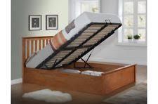 Wood Ottoman Bed Birlea 4ft6 Double Phoenix Ottoman Bed In An Oak Finish 5ft