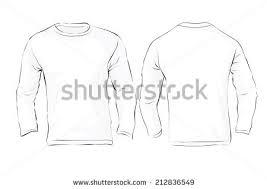 vector illustration mens long sleeved tshirt stock vector