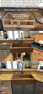 how to install farm sink in cabinet retrofit farmhouse sink custom designed and crafted to fit
