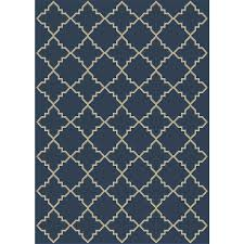 Indoor Outdoor Rugs Home Depot by Hampton Bay Moroccan Tile Blue 5 Ft X 7 Ft Indoor Outdoor Area