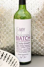 will you be my bridesmaid wine labels will you be my bridesmaid