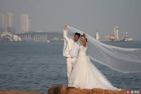 for wedding newly weds flock to qingdao for wedding photos china plus