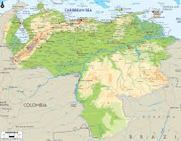 South America Physical Map by Maps Of Venezuela Map Library Maps Of The World