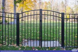accent gates make fence installs look great illusions vinyl fence