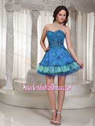 graduation dresses for 5th grade sweetheart mini length 5th grade graduation dresses in blue and teal