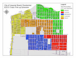 San Diego County Zoning Map by Trash Collection Schedule City Of Imperial Beach