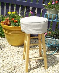 bar chair covers linen barstool slipcover with cushion 12 by applecatdesigns