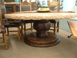Travertine Dining Table 84 Round Dining Table Opens Spacious Hang Out Point Homesfeed