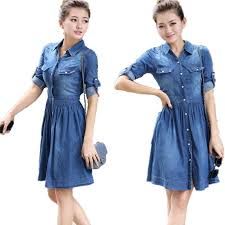 2016 fashion women summer denim dress spring new slim fit denim