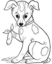 dog color coloring free coloring pages