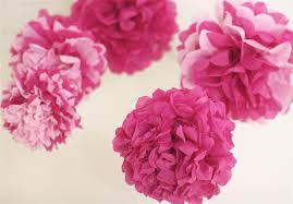 pink tissue paper pink tissue paper pom poms 5 nursery mobile baby shower