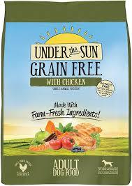 under the sun grain free chicken recipe dry dog food 25 lb
