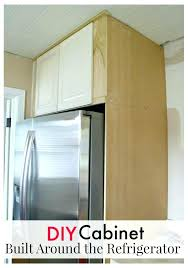 built in refrigerator cabinet built in refrigerator cabinet wood cabinet being built around a