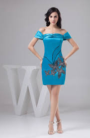 turquoise with sleeves bridesmaid dress short luxury trendy mini