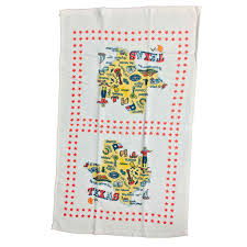 State Of Texas Map State Of Texas Map Cotton Dish Towel Guenther House