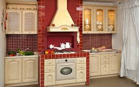 Red Walls In Kitchen - furniture 20 pictures diy built in kitchen cabinet with modern
