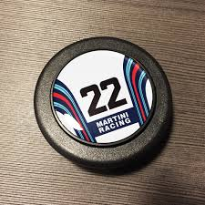 porsche martini horn button martini number 22 white car bone pl